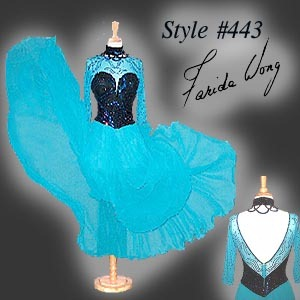 Farida Wong Dancewear – Ballroom Dance Dress 443-B