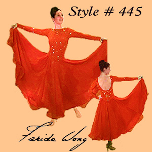 Farida Wong Dancewear – Ballroom Dance Dress 445-B