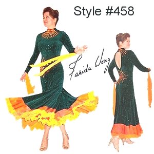 Farida Wong Dancewear – Ballroom Dance Dress 458