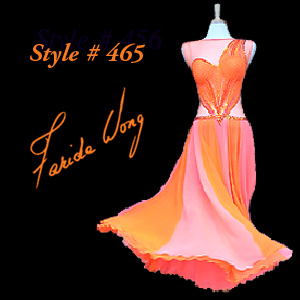 Farida Wong Dancewear – Ballroom Dance Dress 465