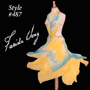 Farida Wong Dancewear – Ballroom Dance Dress 487