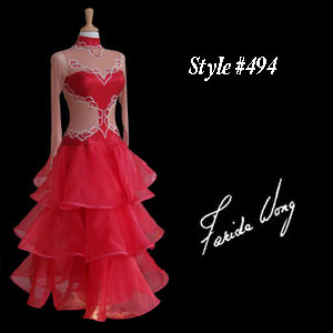 Farida Wong Dancewear – Ballroom Dance Dress 494