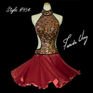 Farida Wong Dancewear – Latin Dance Costume 954